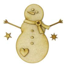 Build A Snowman set Laser Cut from 3mm MDF Christmas card craft or decoration